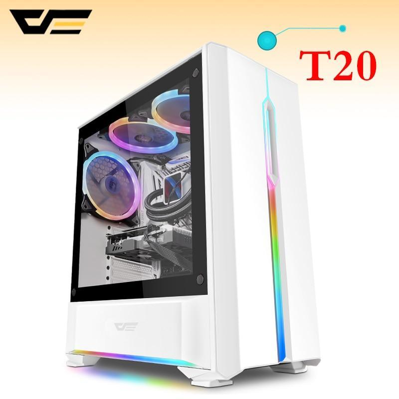T20 Tempered Glass ATX M-ATX ITX USB Computer Case