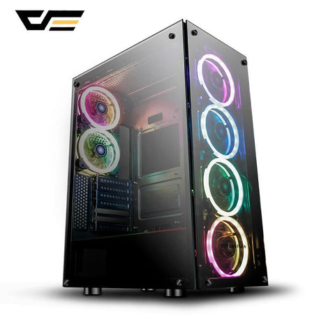 Phantom Gaming Case Black ATX Mid-Tower Desktop Computer Gaming Case