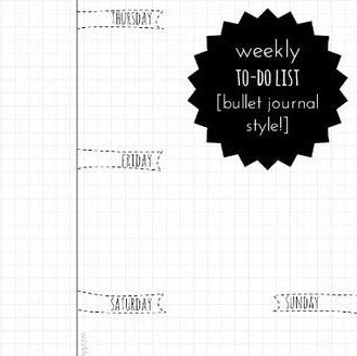 weekly to-do list printable