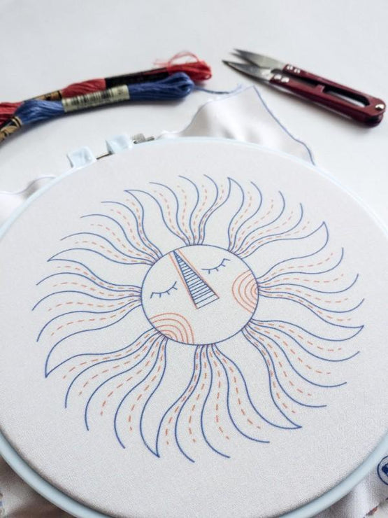 sun king embroidery kit [last chance!]