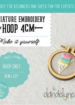 "1.6"" mini embroidery hoop - 1 piece"