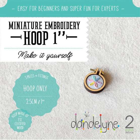 "1"" mini embroidery hoop - 1 piece"