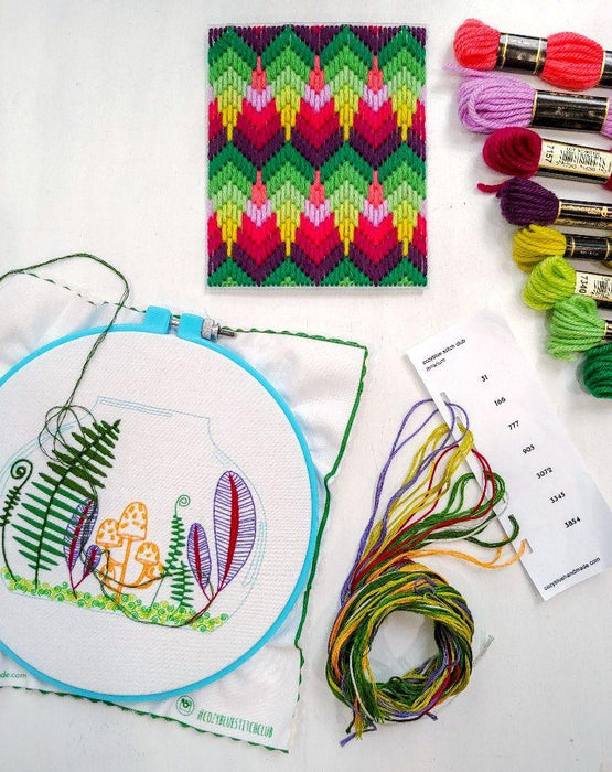 terrarium embroidery kit