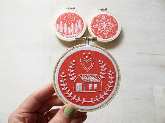 holiday ornaments embroidery kit