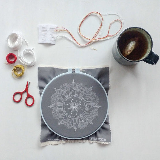 autumn mandala embroidery kit