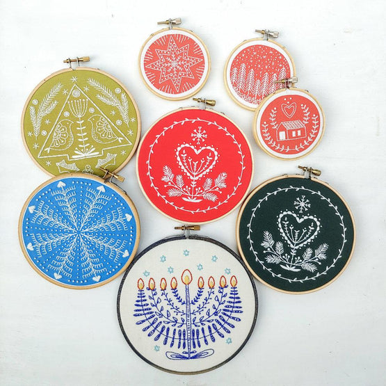 festival of lights embroidery kit