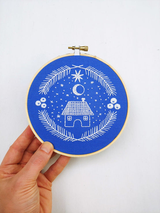 holiday home embroidery kit