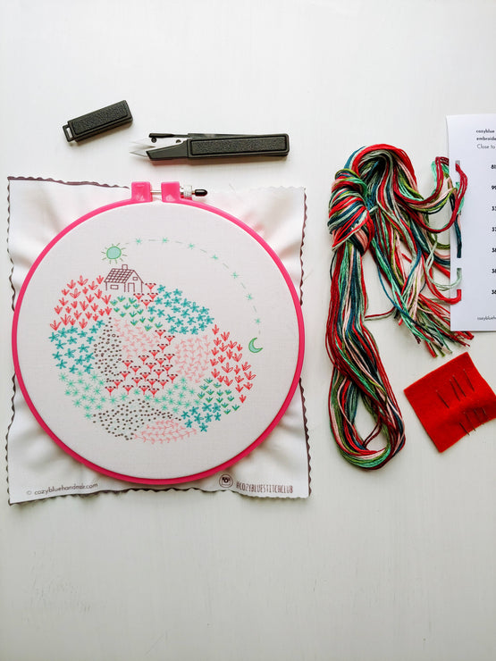 close to home embroidery kit