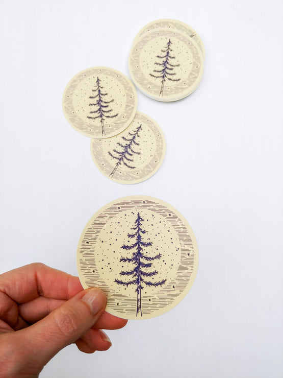 moonlight pine sticker