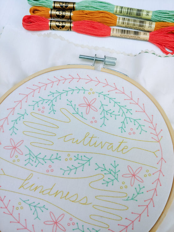 cultivate kindness embroidery kit
