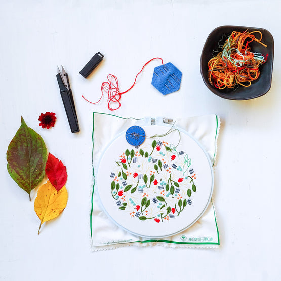 forest floor embroidery kit