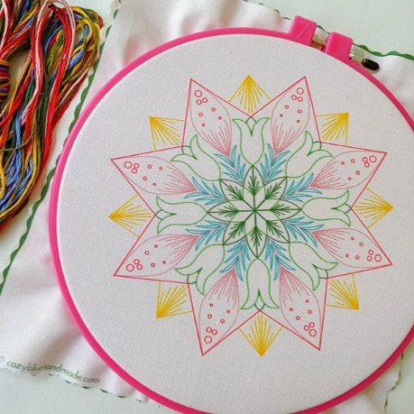 market day embroidery kit