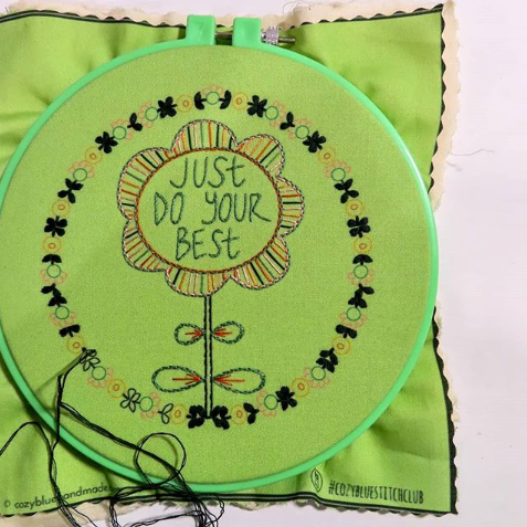 just do your best embroidery kit