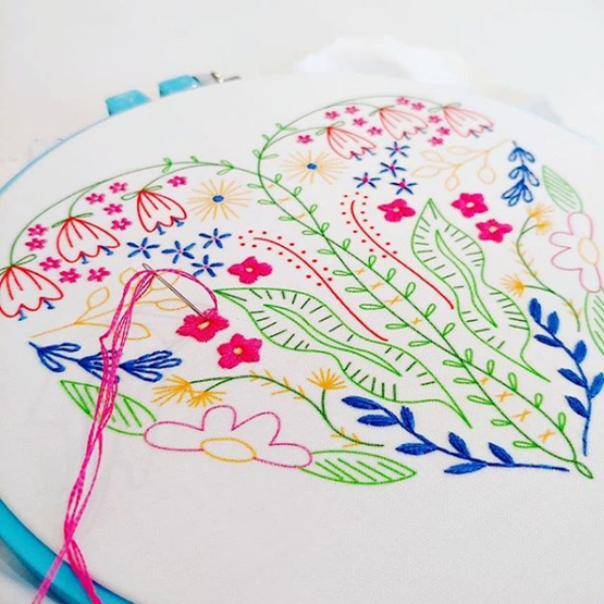 full heart embroidery kit