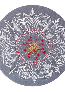 autumn mandala pre-printed fabric embroidery pattern