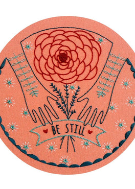be still pre-printed fabric embroidery pattern