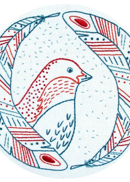 bird of a feather pre-printed fabric embroidery pattern [last chance!]