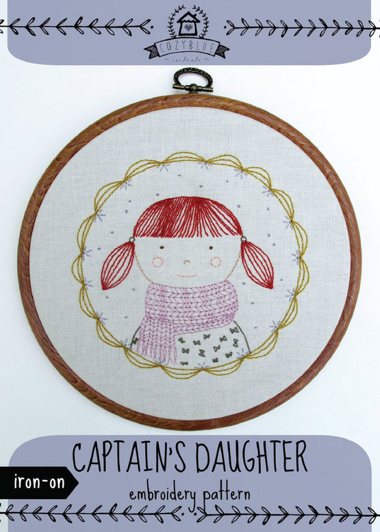captain's daughter iron-on embroidery pattern