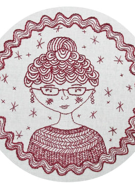 captain's wife pre-printed fabric embroidery pattern