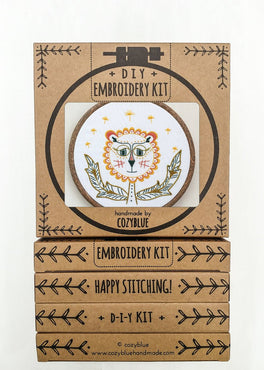 dandy lion embroidery kit [last chance!]