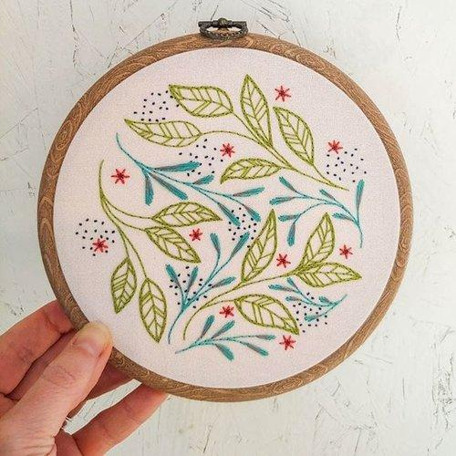 leaf dance embroidery kit