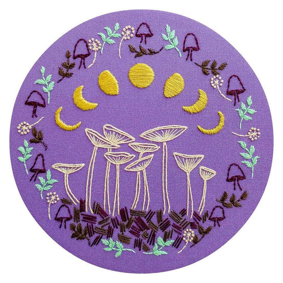 fairy ring pre-printed fabric embroidery pattern