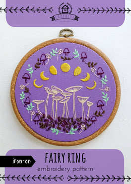 fairy ring iron-on embroidery pattern