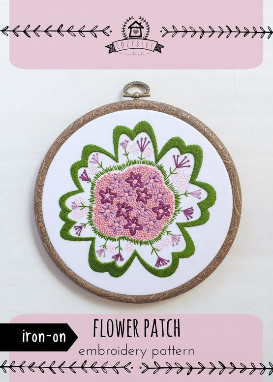 flower patch iron-on embroidery pattern [last chance!]