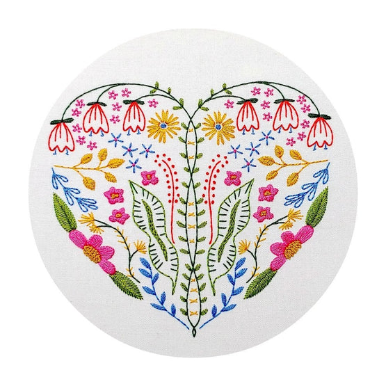 full heart pre-printed fabric embroidery pattern