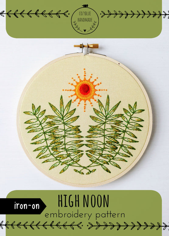 high noon iron-on embroidery pattern