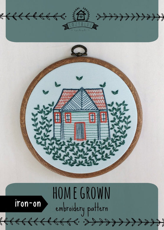 home grown iron-on embroidery pattern