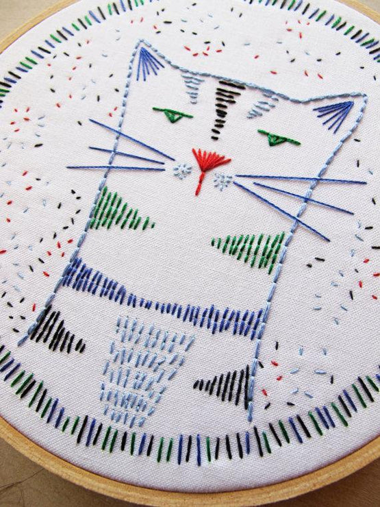nigel nine lives embroidery kit