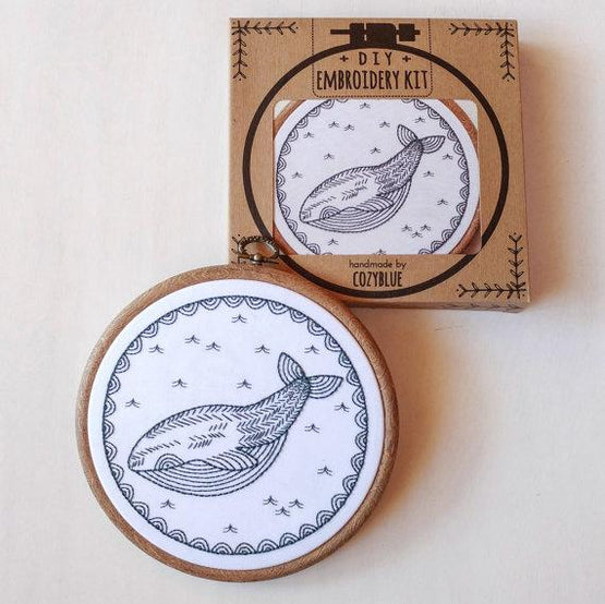 whale of a time embroidery kit