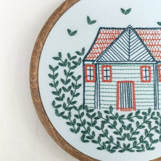 home grown embroidery kit