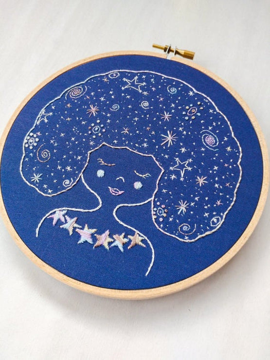 galaxy girl embroidery kit