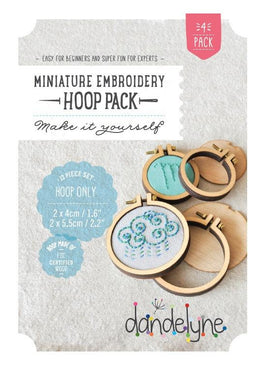mini embroidery hoops - 4 pack