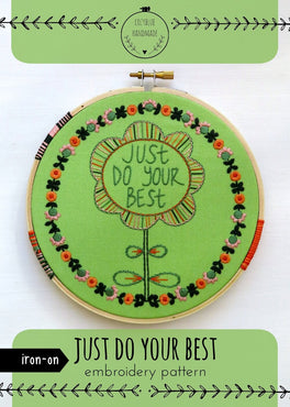 just do your best iron-on embroidery pattern