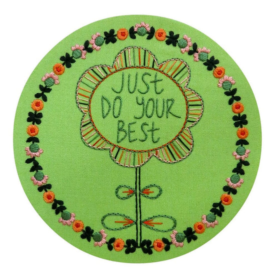 just do your best pre-printed fabric embroidery pattern