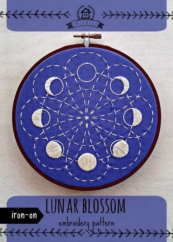 lunar blossom iron-on embroidery pattern