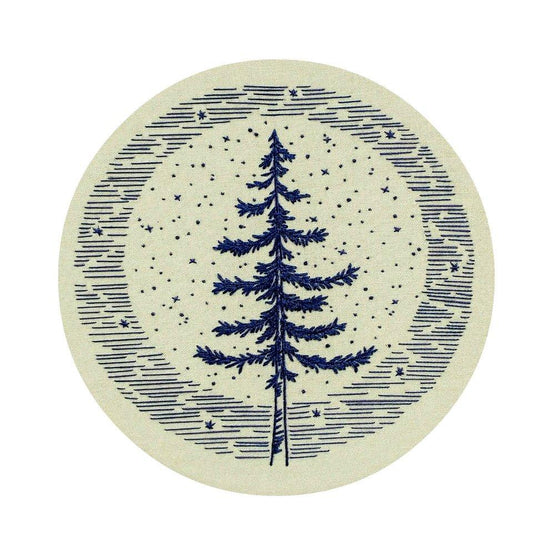 moonlight pine pre-printed fabric embroidery pattern