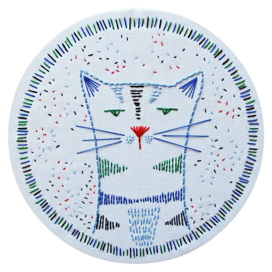 nigel nine lives pre-printed fabric embroidery pattern