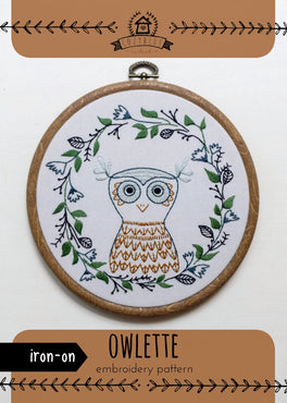owlette iron-on embroidery pattern