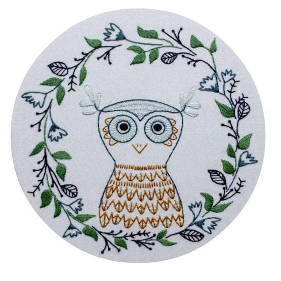 owlette pre-printed fabric embroidery pattern