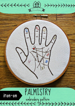 palmistry iron-on embroidery pattern