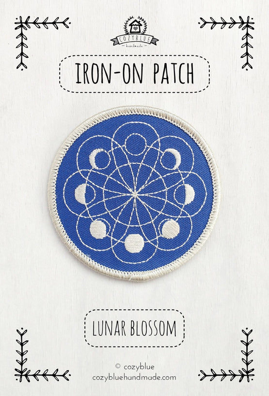 lunar blossom iron-on patch