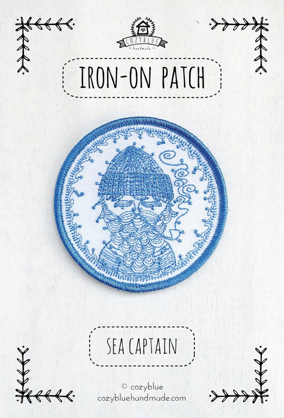 sea captain iron-on patch