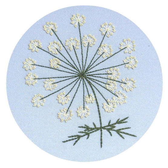 queen anne's lace pre-printed fabric embroidery pattern