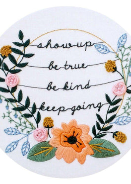 show up pre-printed fabric embroidery pattern