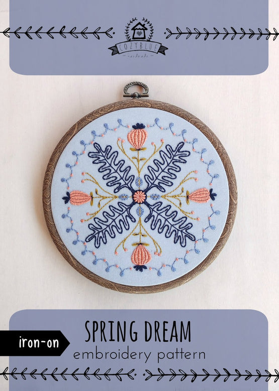 spring dream iron-on embroidery pattern [last chance!]