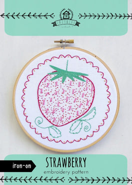 strawberry iron-on embroidery pattern [last chance!]